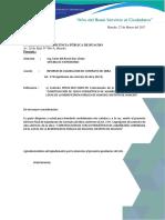 Informe de Liquidación