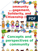 community Engagement, Solidarity and Citizenship