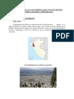 Determinación de Las Características Del Flujo de Tránsito Carretera Cajamarca1
