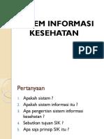 SIK (Sistem Informasi Kesehatan)