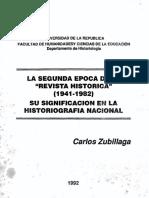 Zubillaga - Segundaepocarevistahistorica