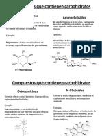 Compuestos Que Contienen Carbohidratos