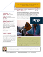 World of Good Development Organization - GSBI 2010 - Factsheet