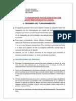 PROCESO DE TRANSPORTE POR OLEODUCTOS CON BOMBAS REDUCTORES DE CAUDAL