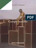 David Le Breton - Cuerpo sensible.pdf