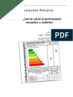 Tutorial Certificat Energetic - Cladire