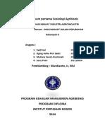 Praktikum Pertama Sosiologi Agribisnis