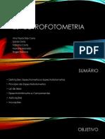 Apresentação Transdução - Espectrometria