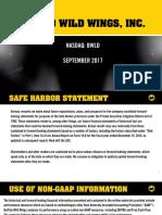 BWLD Buffalo Wild Wings Investor Presentation Sept 2017