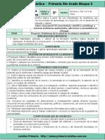 Plan 5to Grado - Bloque 5 Ciencias Naturales (2016-2017)