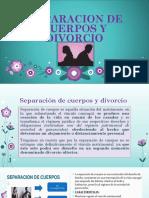 Separacion de Cuerpos y Divorcio