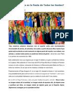 Reflexión Fiesta de Todos Los Santos