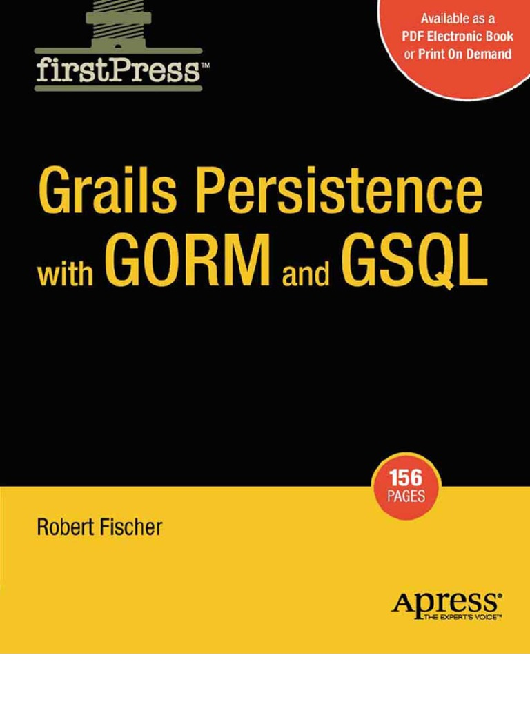 Grails-Persistence-With-GORM-and-GSQL   Class (Computer