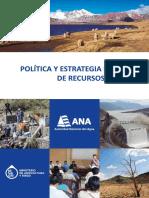Politica y Estrategia Nacional de Recursos Hidricos Ana