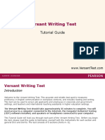 Tutorial Guide v Writing Test