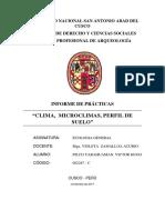 """""""CLIMA,  MICRO CLIMAS, PERFIL DE SUELO"""""""
