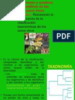 clasificaciondelosseresvivos-taxonomia