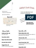 gabbys sushi shack