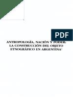 La Construccion Etnografica en Argentina