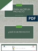Guía Para Hacer Un Proyecto