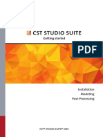 Cst Studio Suite - Getting Started