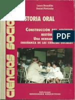 Historia Oral. Construcción del archivo histórico escolar