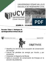Sesión 9 - FLUIDOS - Ecuación de La Energía.pdf