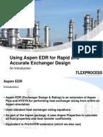 Flex Process Aspen EDR for Exchanger Design