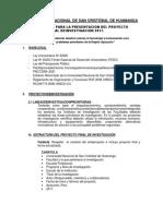 Estructura Del Proyecto de Investigacion Final 2017