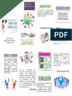 TRIPTICO  Politica Educativa e internacionales