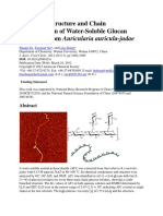 Branching Structure and Chain Conformation of Water