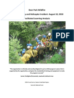 Deer Park Firefighter Injury & Helicopter Incident Facilitated Learning Analysis