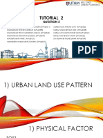 Urban land use pattern