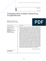 IRJBS 4-2b (an Empirical Study on Market Timing Theory of Capital Structure)