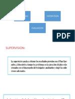 LA EVALUACION, Supervision y Monitoreo