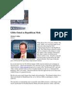 Gibbs Outed as Republican Mole