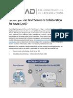 Revit Server or Collaboration for Revit (C4R)?