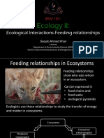 6. Ecology II Part B- Ecological Interactions- Food Chains Food Webs 2017