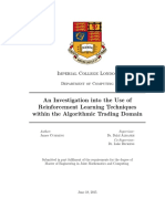 An Investigation Into the Use of Reinforcement Learning Techniques Within the Algorithmic Trading Domain