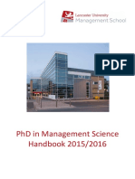 PhD ManagementScience Handbook2015