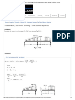Problem 813 _ Continuous Beam by Three-Moment Equation _ Strength of Materials Review