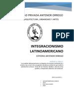 Formativa IV - Integracionismo Latinoamericano