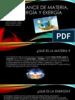 Balance de Materia, Energía y Exergía