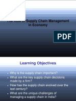 The Role of Supply Chain Management in Economy