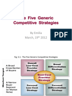 The Five Generic Competitive Strategies Strategic Management 6