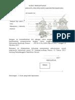 Surat Pendaftaran