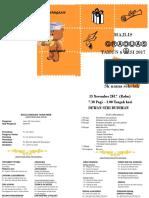 pamplet / brosur contoh majlis graduasi (pamplet yang ringkas)