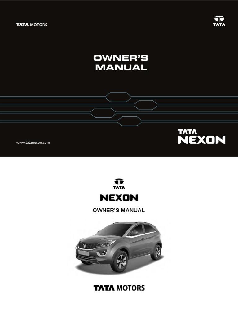 Tata] Nexon Owners Manual | Airbag | Seat Belt on