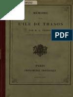 Mémoire Sur l' Ile de Thasos (1864)
