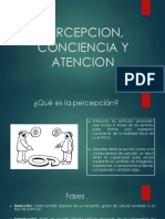 PERCEPCION, CONCIENCIA Y ATENCION